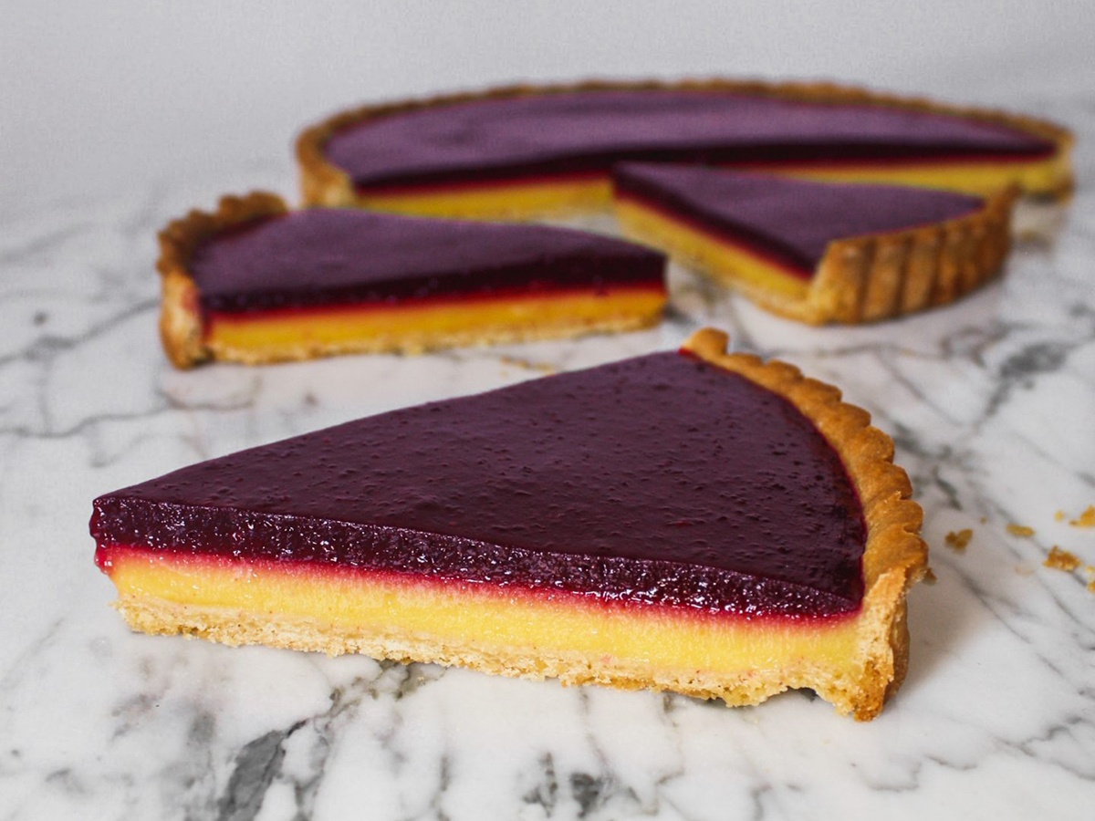 Celebrate National Dessert Day with this Blueberry Lemon Curd Tart!