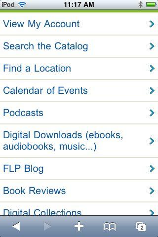 Mobile Website has a new menu