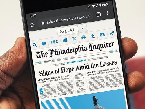 Your library card can gain you access to full, current newspaper issues.