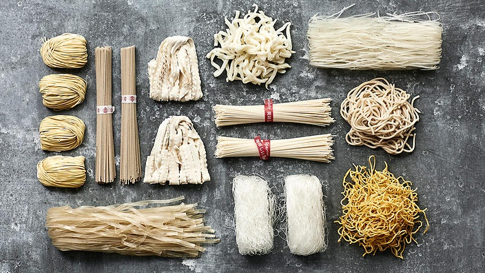 Noodles are eaten across cultures, they are available in different shapes and sizes, with dough that is made from different grains including wheat, rice, and vegetable starch.
