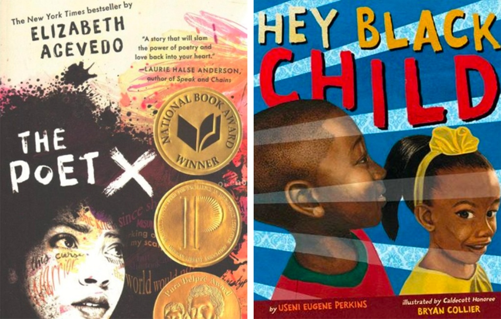 This year's One Book, One Philadelphia youth titles are Elizabeth Acevedo's The Poet X and Hey Black Child by Useni Eugene Perkins
