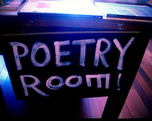 Let's meet here and talk poems.