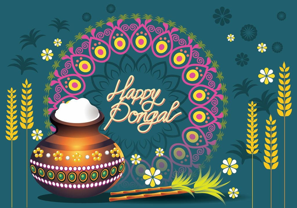 Celebrate Pongal virtually on Friday, January 15 at 3:00 p.m. on Donatucci Library's Facebook page