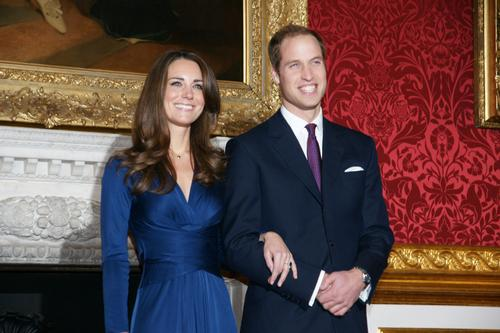 Prince William and Miss Catherine Middleton appear at a photocall on the day of their engagement at St. James's Palace © The British Monarchy