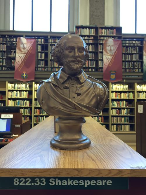 William has his very own corner in the Literature Department at Parkway Central Library!