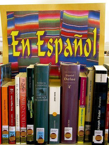 spanish books on a shelf