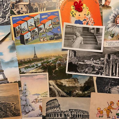 A special collection of WWII postcards shared by Laura, curator of the Print and Picture Collection