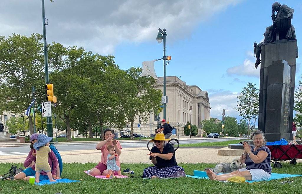 Yoga in the park!