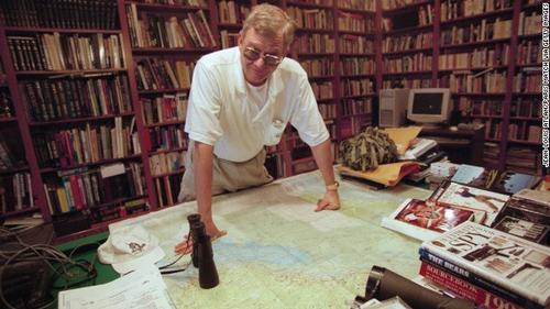 Tom Clancy in his war room