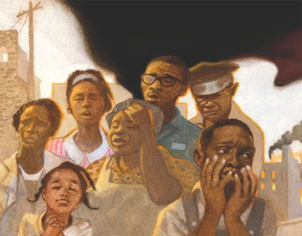 Artwork from Unspeakable: The Tulsa Race Massacre, illustrated by Floyd Cooper