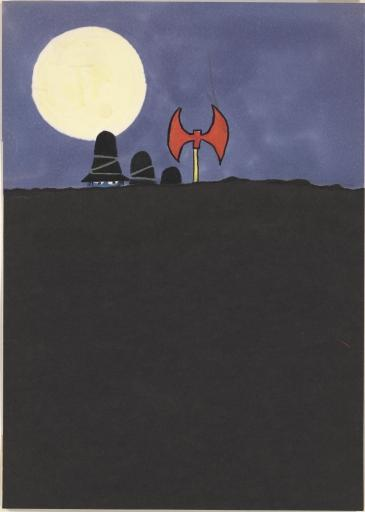 Final art for <i>The Three Robbers</i> by Tomi Ungerer, 1961.