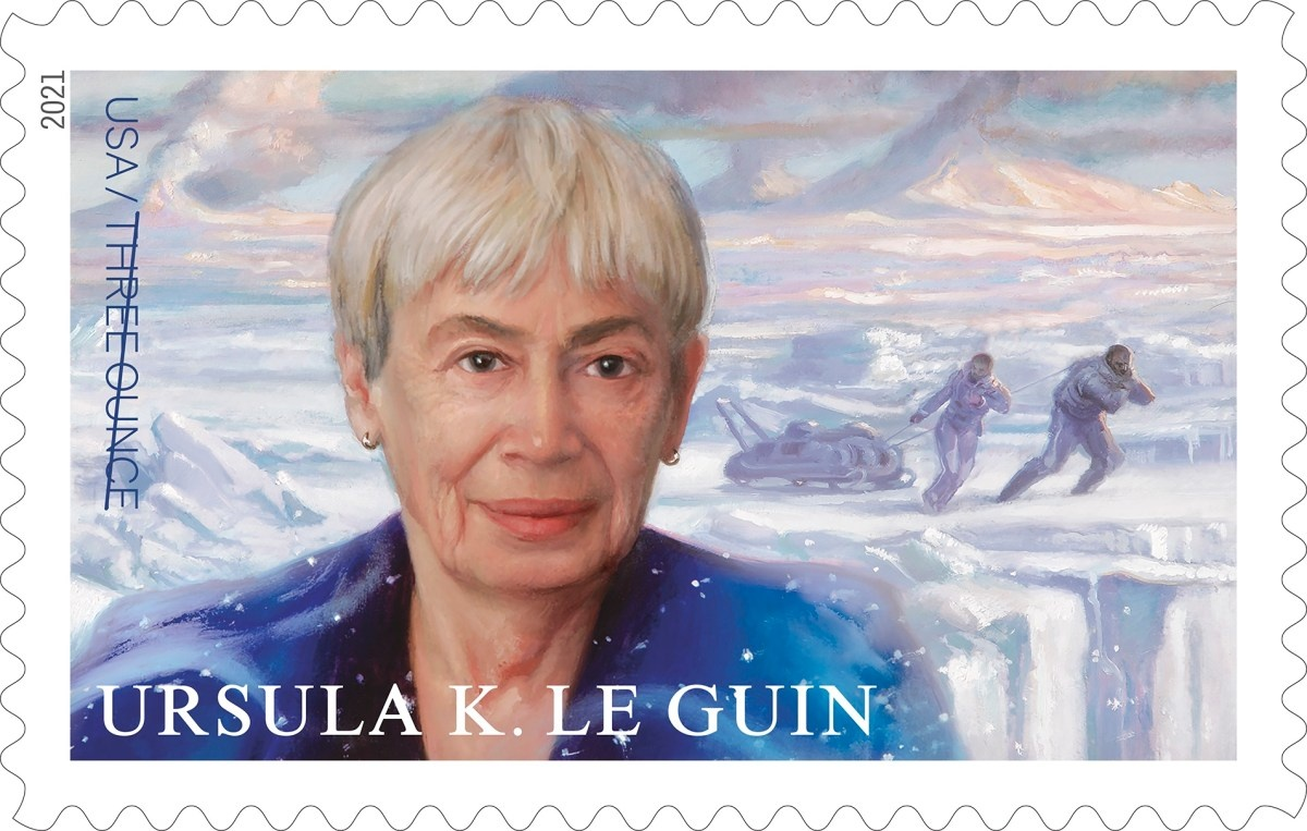 The newest addition to the Literary Arts series of stamps will feature Ursula K. Le Guin!