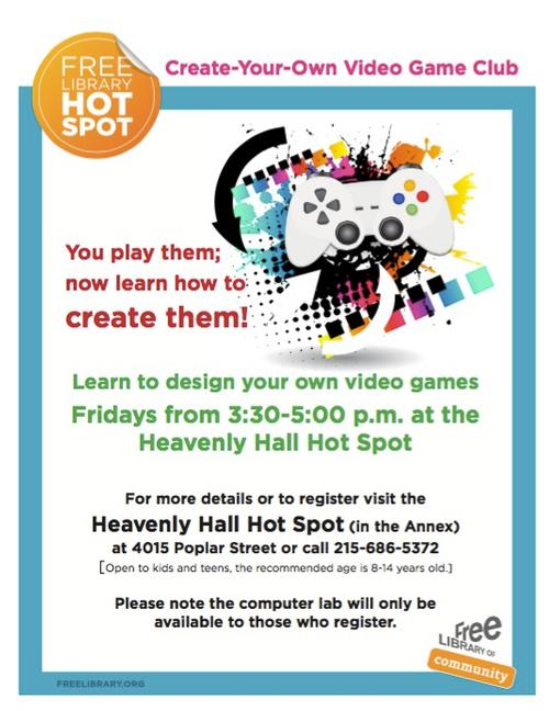 Video Game Club at Heavenly Hall