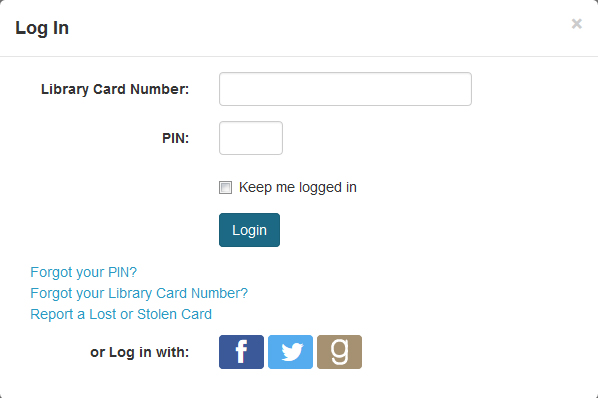 Login with your Facebook, Twitter, or Goodreads Account