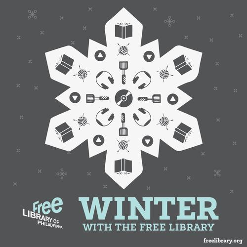 Winter at the Free Library