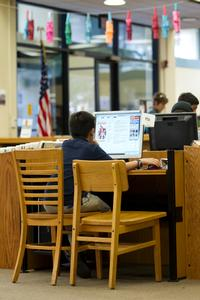 Libraries have computers reserved specially for students.