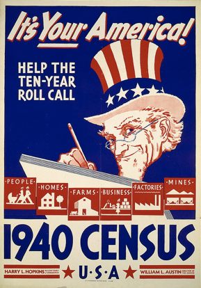 The 1940 census is the most recent one in public record, as the census is under cyberlock-and-key for 72 years.