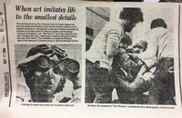 The first newspaper clipping I randomly found about the artist.