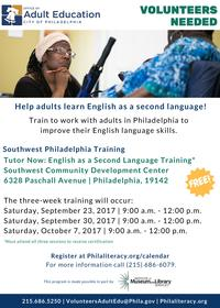 2017 Fall ESL Volunteer Training Southwest CDC