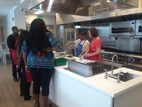 Testing recipes in the Culinary Literacy Center