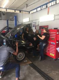 Patrice and her team in action