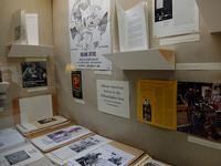Materials from Roland Ayers, Selma Burke, John Biggers, and LeRoy Johnson, among others, on currently on display in Art Department