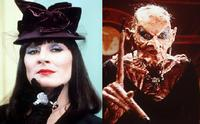 Anjelica Huston in the dual title role of Miss Ernst and The Grand High Witch in the 1990 film adaptation of <i>The Witches</i>