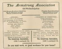 Ad for the Armstrong Association employment office (source: The Philadelphia Colored Directory)