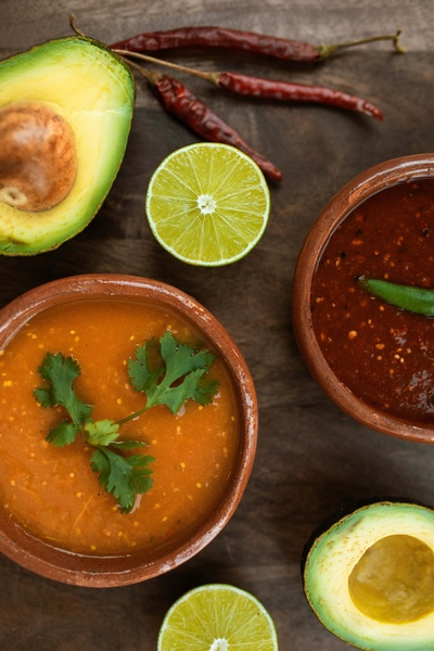Avocados, Chiles and Salsa