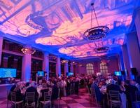 Philbrick Hall, all dressed up for the Library's biggest fundraiser of the year!