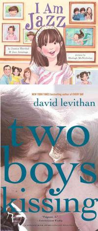 The increasing spotlight on LGBTQ youth and bullying has led to an increase in LGBTQ characters and themes in children's and teen books, with titles like I Am Jazz and Two Boys Kissing, which have topped the challenged/banned books list.