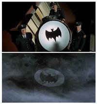Chief O'Hara turning on the Bat-signal from Batman television show