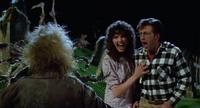 Michael Keaton (as Beetlejuice) scaring Geena Davis and Alec Baldwin in Tim Burton's 1988 Horror Comedy, Beetlejuice