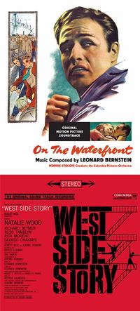 <i>On the Waterfront</i> (1954) and <i>West Side Story</i> (1961) film scores by Leonard Bernstein