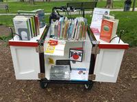 The Book Bike is a mobile library on wheels!