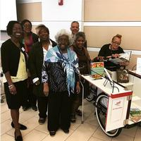 Actors from Living Well Theater at the Good Food for All Conference in Culinary LIteracy Center at Parkway Central Library.