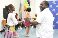 Marvin dancing with a patron during one of his popular and well-attended Philly Bop Dance Classes.