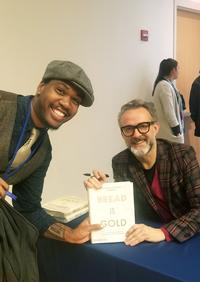 The author with The Author.
