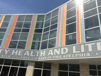 The facade of the soon-to-open Health and Literacy Center, which houses the new South Philadelphia Library