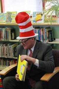 Mayor Jim Kenney read to children at the Widener Library on Dr. Seuss' birthday in 2016!