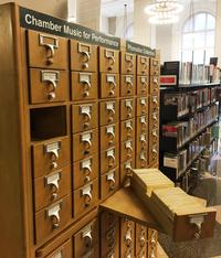 Our trusty card catalog.