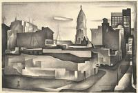 Benton Spruance. Changing City. Lithograph, 1934.