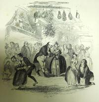 Hablot Knight Browne, Christmas Eve at Mr. Wardle's, pen and ink on paper. Illustration for <i>The Works of Charles Dickens, Household Edition</i>, 1873.