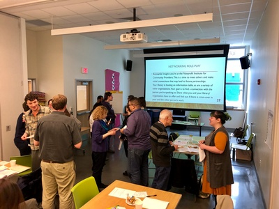 Cohort 10 of Skills for Community-Centered Libraries met in person for their 1st workshop, March 2020