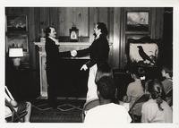 A Reenactment: Charles Dickens Meets Edgar Allan Poe at The Free Library of Philadelphia in the Elkins Room.