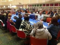 Community organizers and Library staff hosted a community dinner to start a conversation about how the community and the Library can work together.