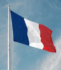 The <i>tricolore</i> of France, adopted as the national flag in 1794.