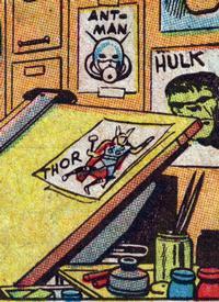 Back at the drawing board, creating comics!
