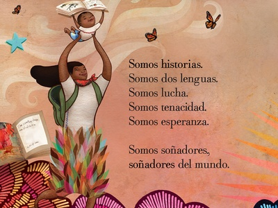 Dreamers by Yuyi Morales is an illustrated autobiography.