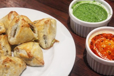 This samosa recipe is one of my favorites and it takes two shortcuts that reduce the time and mess: it calls for pre-made pie dough and the samosas are baked rather than fried.